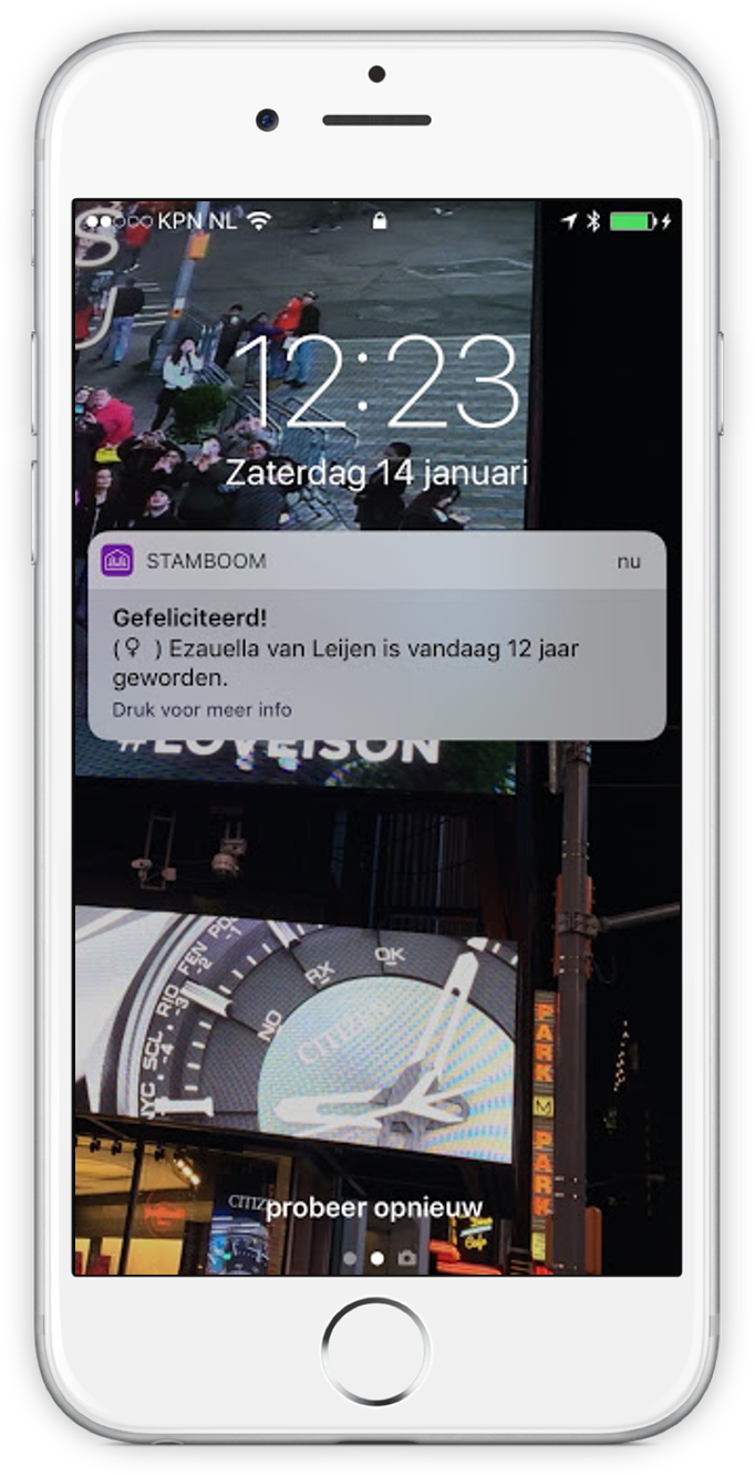 Screenshot van Stamboom